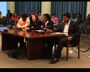 Wilson students address the DC city council's education committee.